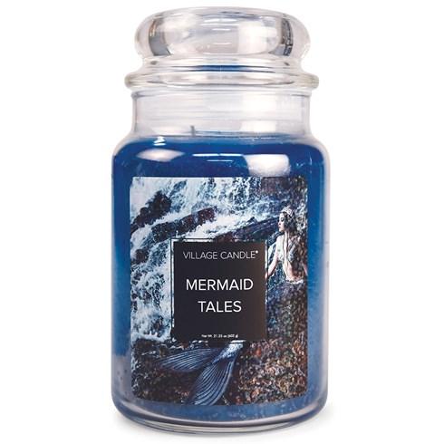 Mermaid Tales Village Candle Large Scented Jar
