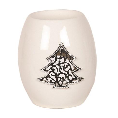 White Ceramic Christmas Tree Wax Melt Burner 11.5cm