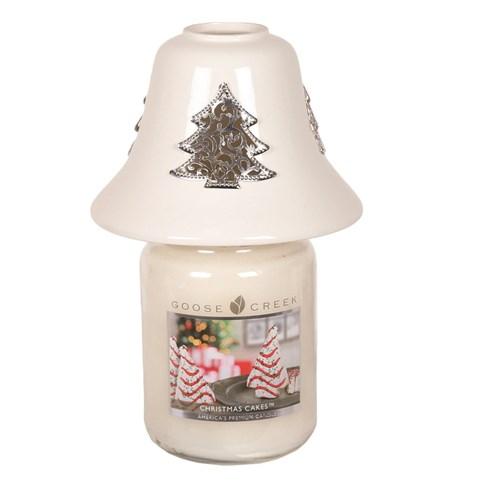 White Ceramic Christmas Tree Jar Shade
