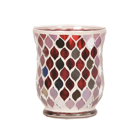 Hurricane Tealight Holder - Red Mirror Teardrop