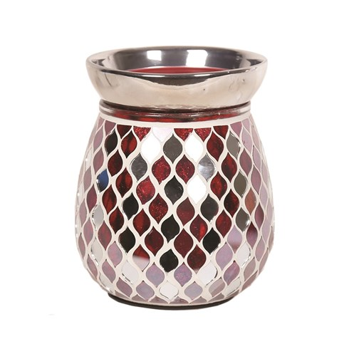 Electric Wax Melt Burner - Red Mirror Teardrop