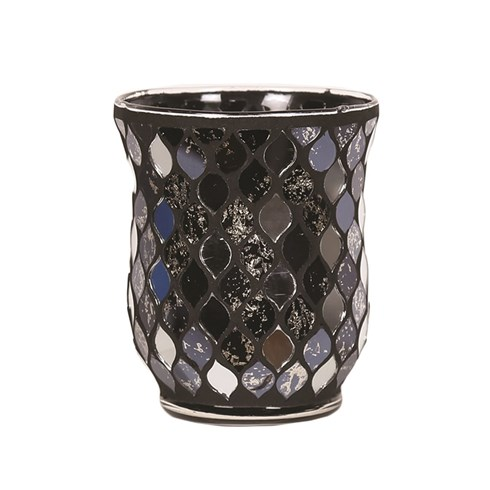 Teardrop Hurricane Tealight Holder - Black Mirror