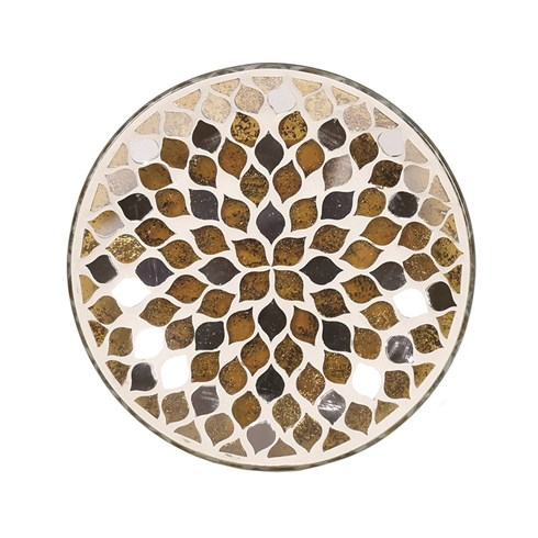 Candle Plate - Gold Mirror Teardrop