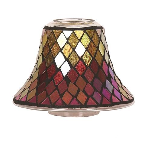 Candle Jar Lamp Shade - Purple & Gold Diamond