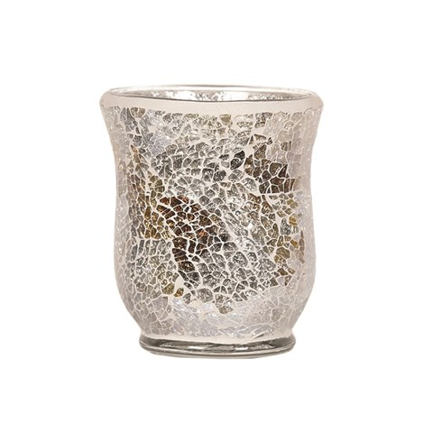 Hurricane Tealight Holder - Gold & Silver Crackle