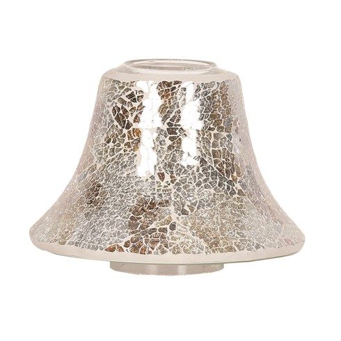 Gold and Silver Crackle Jar Lamp Shade