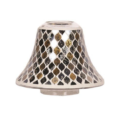 Black and Gold Teardrop Jar Lamp Shade