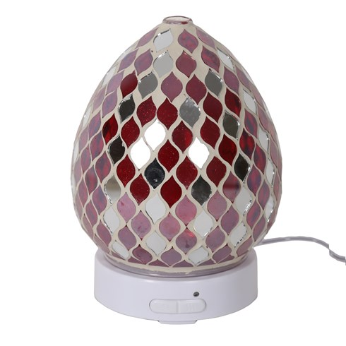 Red Mirror Teardrop LED Ultrasonic Diffuser