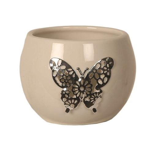 Ceramic Butterfly Tealight Holder