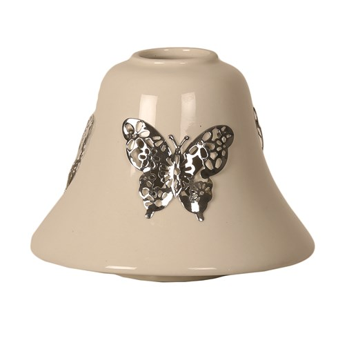 Ceramic Candle Jar Lamp Shade - Butterfly