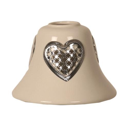 Ceramic Candle Jar Lamp Shade - Heart