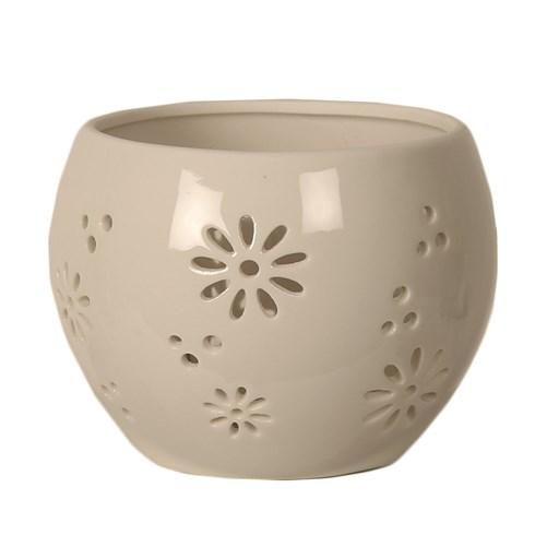 Ceramic Daisy Tealight Holder