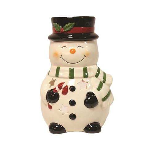 Snowman Tealight Holder 15.5cm