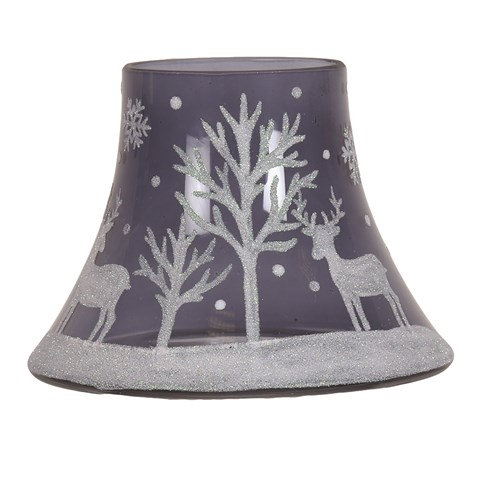 Moonlight Reindeer Candle Jar Lamp Shade