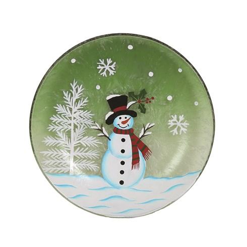 Snowman Candleplate 16cm