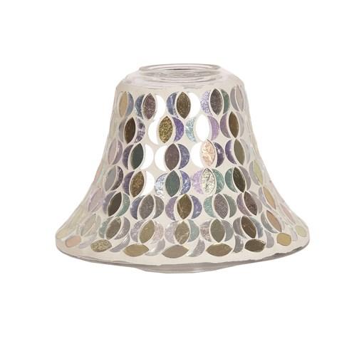 Candle Jar Lamp Shade - Gold & Silver Moon