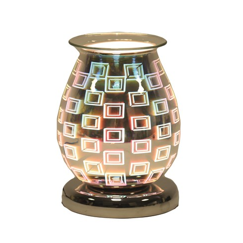 Oval 3D Electric Wax Melt Burner - Squares