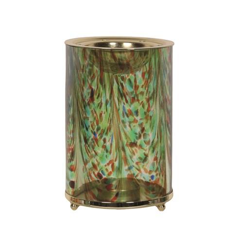 Wax Melt Burner - Green Art Glass