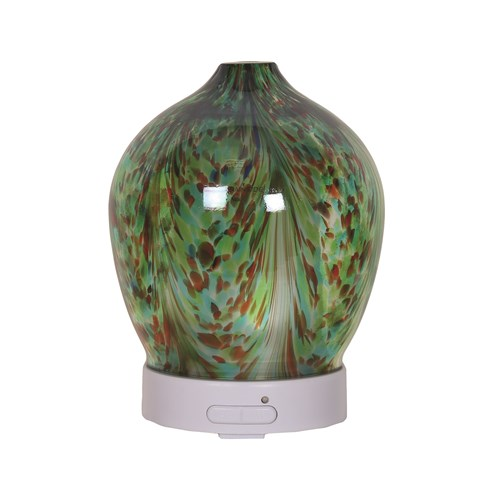 LED Ultrasonic Diffuser - Green Art Glass