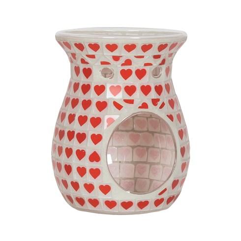 Wax Melt Burner - Red Heart