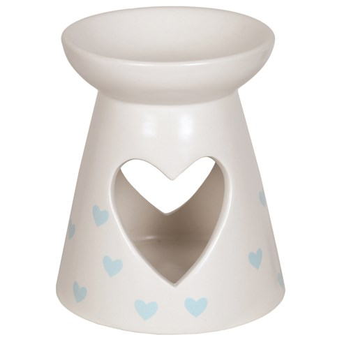 Ceramic Wax Melt Burner - Blue Heart