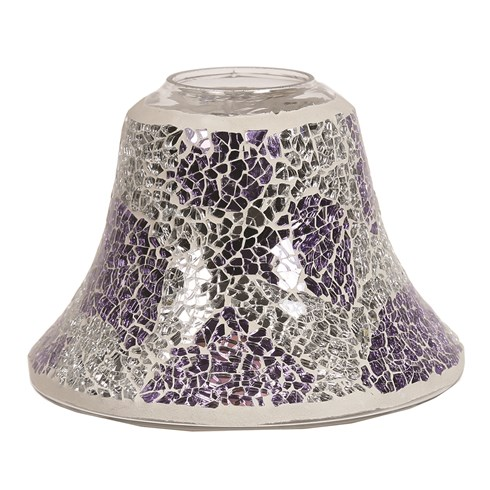 Candle Jar Lamp - Purple & Silver