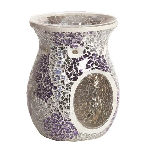 Wax Melt Burner - Purple & Silver