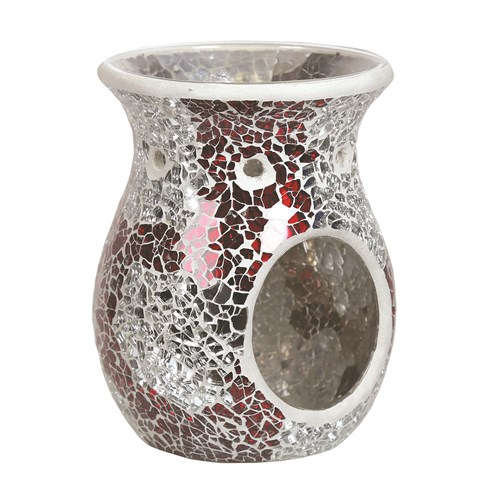 Wax Melt Burner - Red & Silver