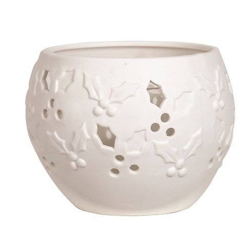 Ceramic Tealight Holder - Holly