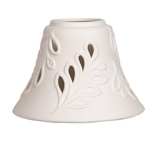 Ceramic Candle Jar Lamp Shade - Leaf