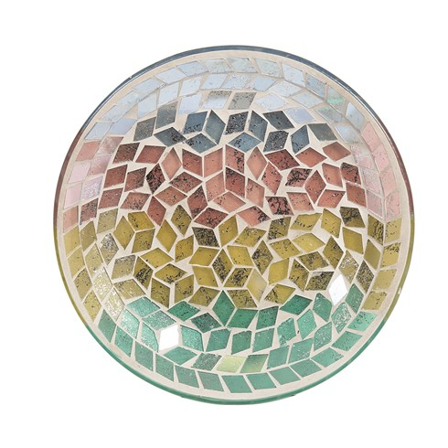 Candle Plate - Diamond Tricolour