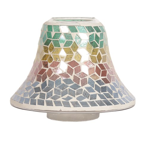 Candle Jar Lamp - Diamond Tricolour