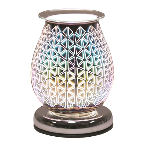 Oval 3D Electric Wax Melt Burner - Geo Triangle