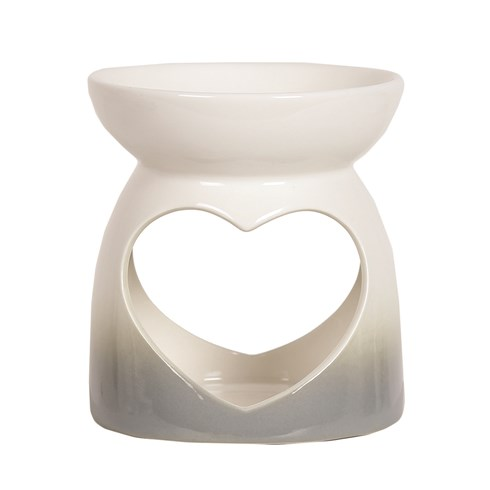 Wax Melt Burner - Grey Heart Burner