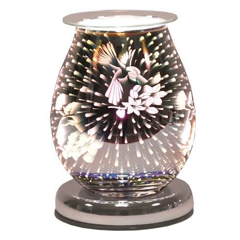 Oval 3D Electric Wax Melt Burner - Hummingbird