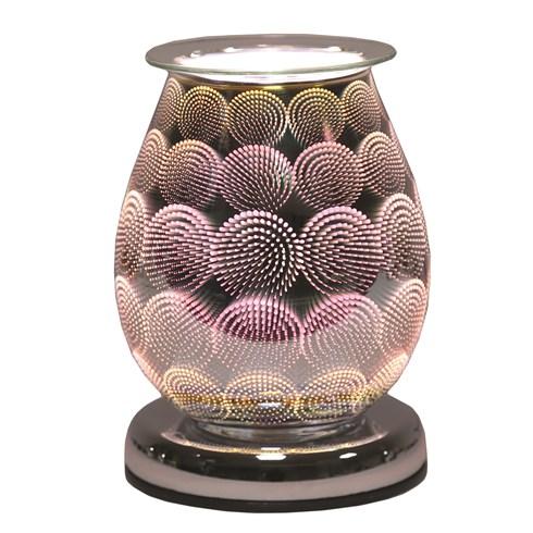 Oval 3D Electric Wax Melt Burner - Circles