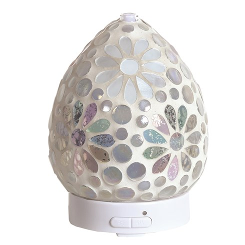 LED Ultrasonic Diffuser - Pearl Floral