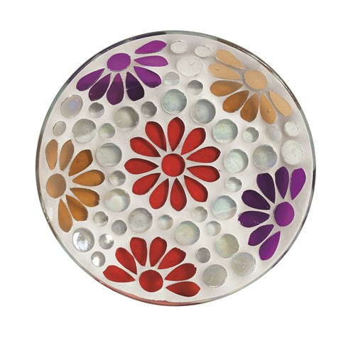 Candle Plate - Multi Floral