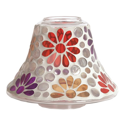 Candle Jar Lamp - Multi Floral