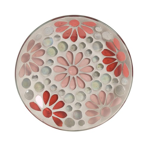 Candle Plate - Pink Floral