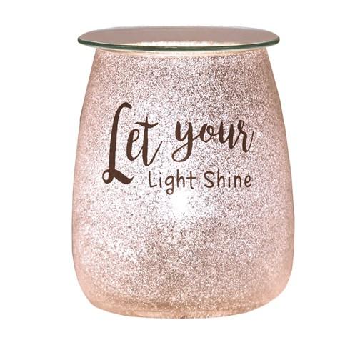 Electric Wax Melt Burner - Glitter 'Let Your Light Shine'