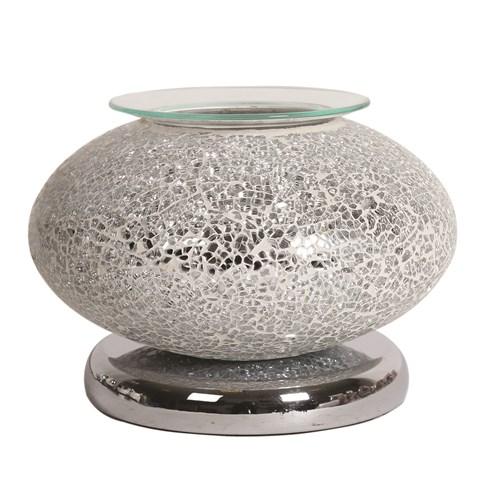 Ellipse Electric Wax Melt Burner Touch - Silver Mosaic