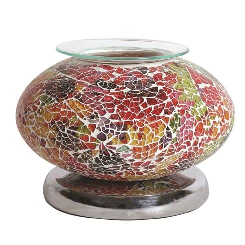Ellipse Electric Wax Melt Burner - Red Mosaic