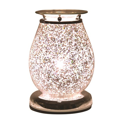 Oval Electric Wax Melt Burner Touch - Glitter Star