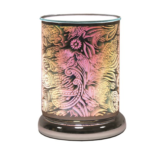 Cylinder 3D Electric Wax Melt Burner Touch - Paisley
