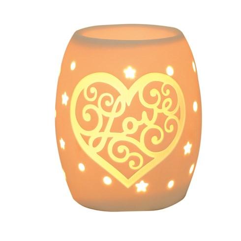 Electric Wax Burner – Ceramic Love Heart