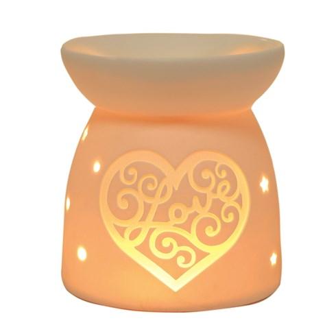 Wax Melt Burner - Ceramic Love Heart