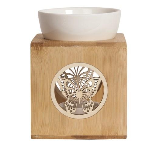 Wax Melt Burner – Zen Bamboo Butterfly