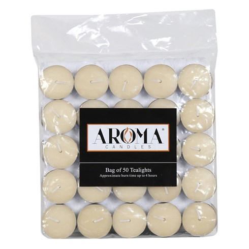 Ivory Tealights - Pack of 50