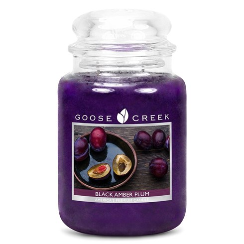 Black Amber Plum 24oz Scented Candle Jar